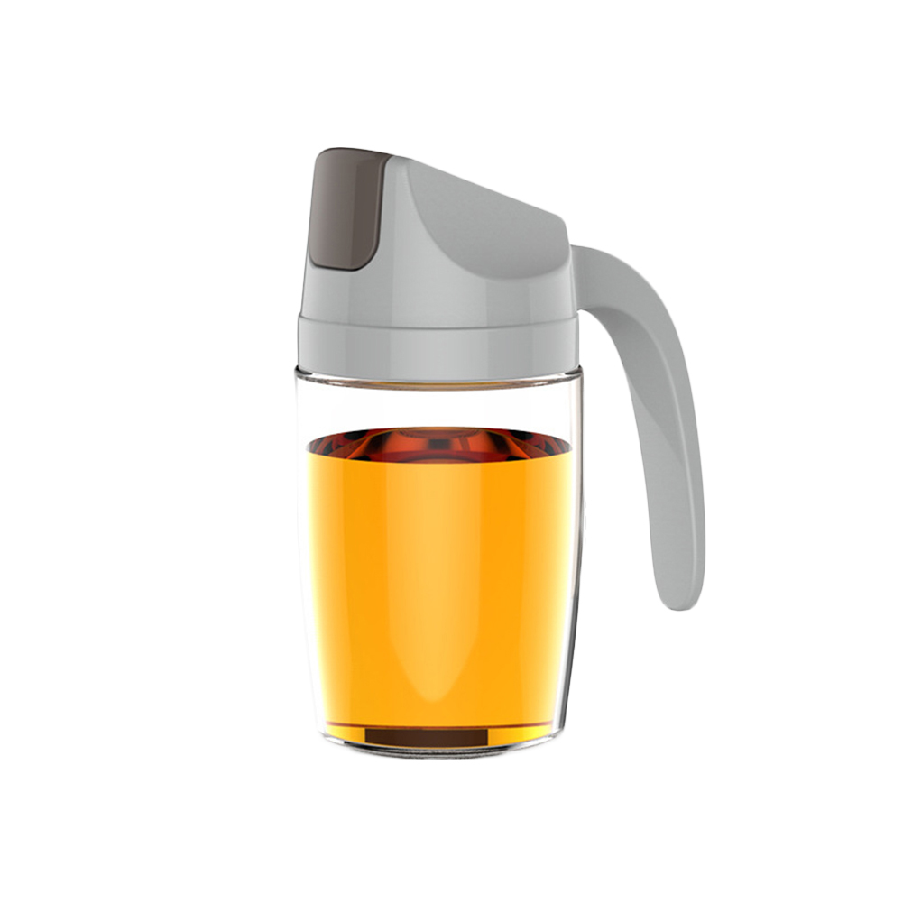 Leakproof Olive Oil Vinegar Dispenser Bottle Automatic Cap Storage Jar Nett
