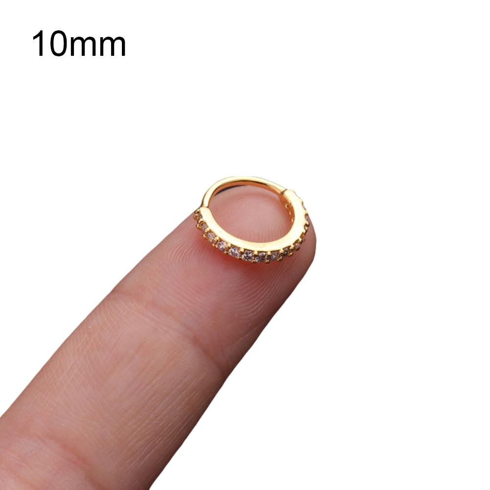 Details about  /1Pc Women Cubic Zirconia Hoop Nose Ring Huggie Earring Piercing Jewelry Surprise