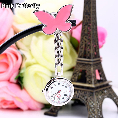 Women-Butterfly-Smile-Face-Quartz-Clip-On-Brooch-Nurse-Hanging-Pocket-Watch-Stly thumbnail 12