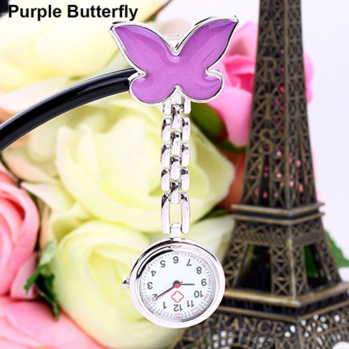 Women-Butterfly-Smile-Face-Quartz-Clip-On-Brooch-Nurse-Hanging-Pocket-Watch-Stly thumbnail 16
