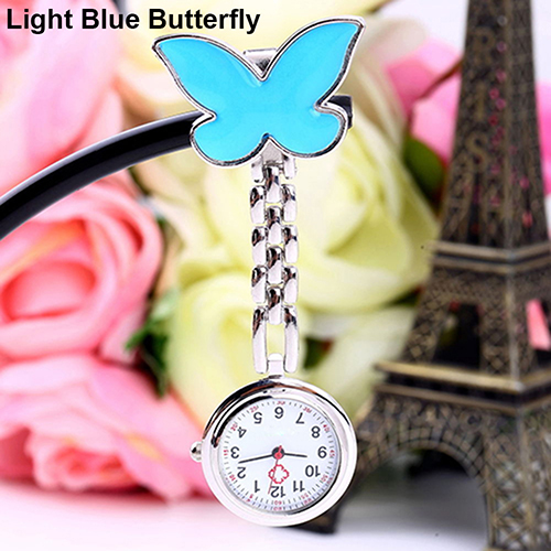 Women-Butterfly-Smile-Face-Quartz-Clip-On-Brooch-Nurse-Hanging-Pocket-Watch-Stly thumbnail 9