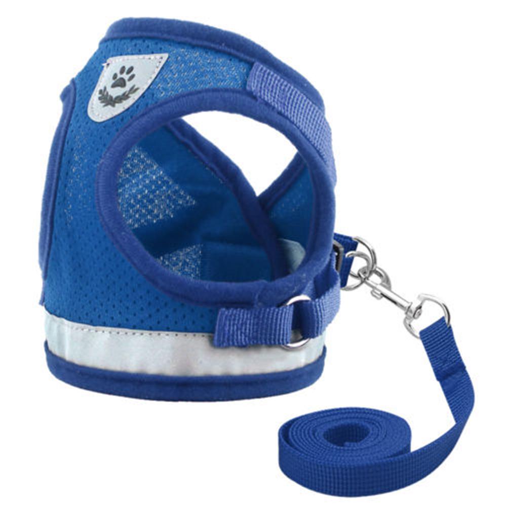 Dog-Cats-Harness-Pet-Adjustable-Reflective-Vest-Walking-Lead-Leash-for-Puppy-Net thumbnail 16