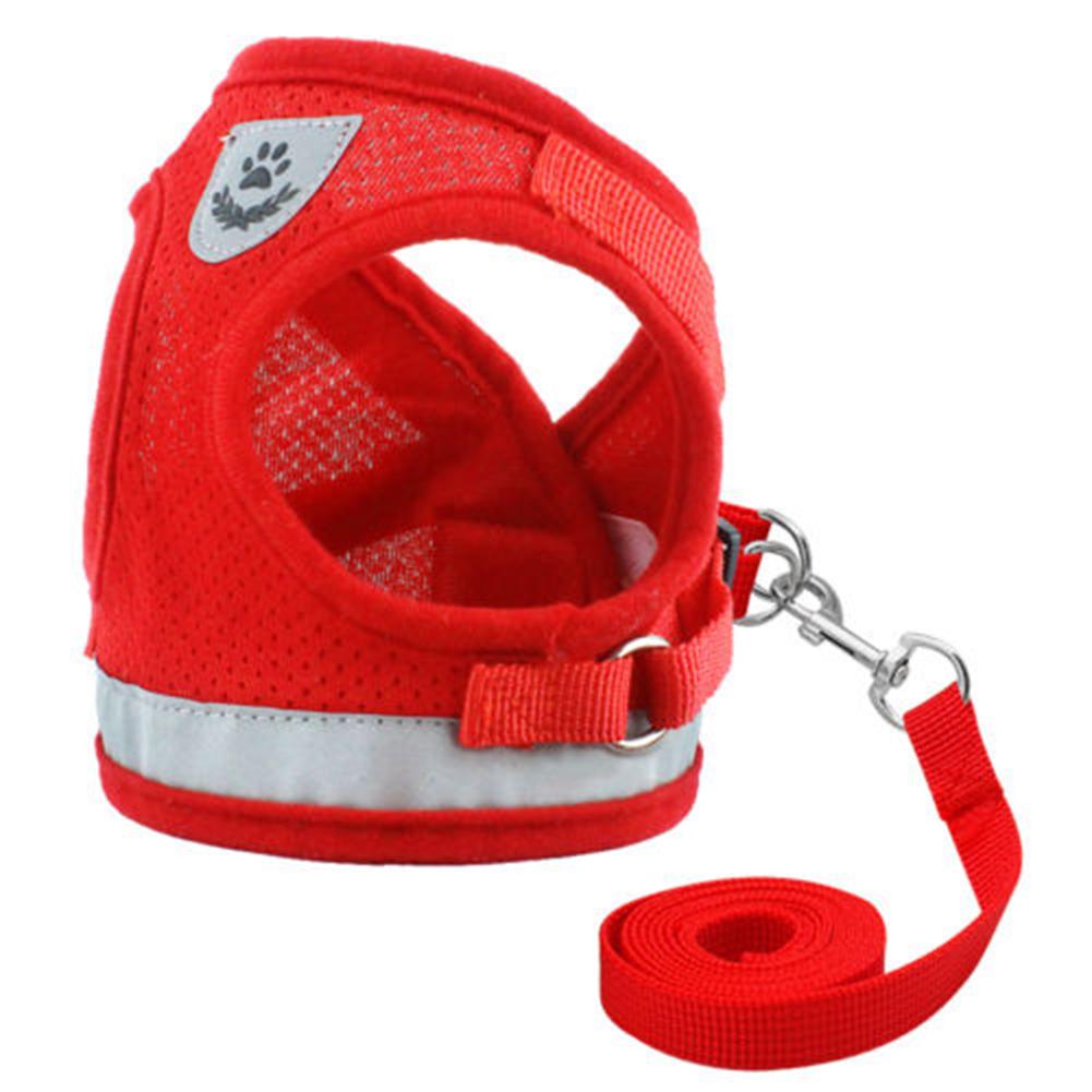 Dog-Cats-Harness-Pet-Adjustable-Reflective-Vest-Walking-Lead-Leash-for-Puppy-Net thumbnail 14