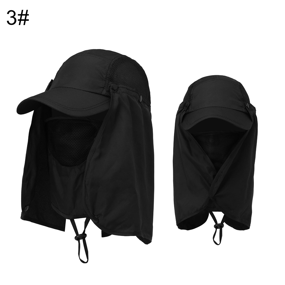 Cap-UV-Protection-Adjustable-Baseball-Cap-Blank-Solid-Hat-with-Face-Neck-Flap thumbnail 10