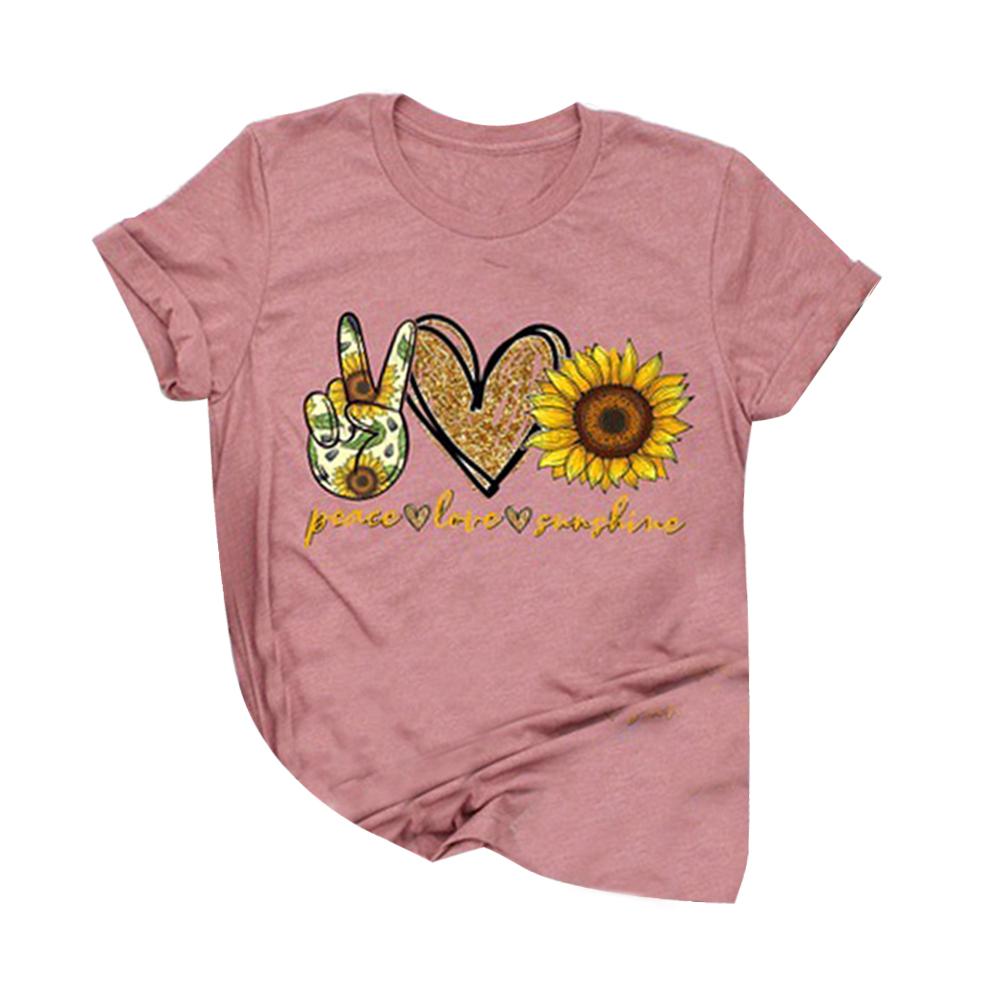Fashion-Boho-Women-Casual-Summer-Short-Sleeve-Cartoon-Cotton-T-Shirt-Blouse-Tops thumbnail 14