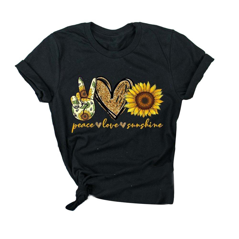 Fashion-Boho-Women-Casual-Summer-Short-Sleeve-Cartoon-Cotton-T-Shirt-Blouse-Tops thumbnail 17