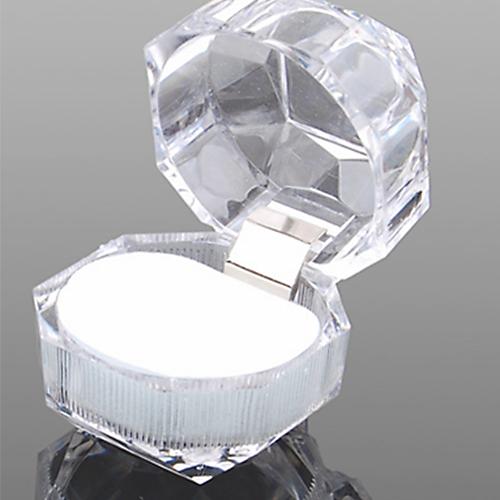1Pc Transparent Acrylic Ring Display Box Storage Organizer Gift Jewelry Case Hot